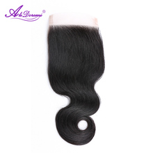 Alidoremi Brazilian Lace Closure Body Wave Non-Remy Human Hair Free Part 4×4 Swiss Lace Free Shipping