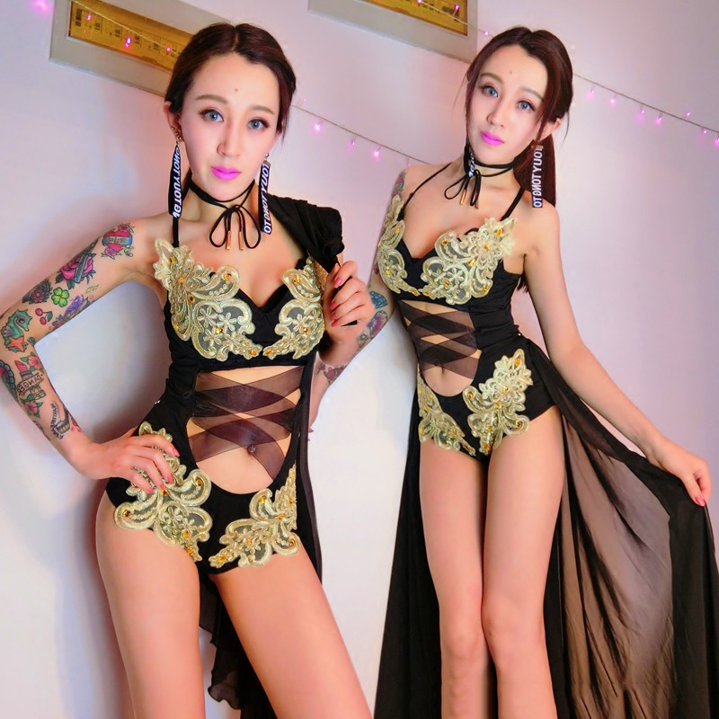 2019 Jazz Dance Costumes Sexy Outfits For Woman Bar DJ Performance Nightclub DS Pole Dance Clothing Hip Hop Street Dance DQS1324