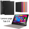 "Super Slim Smart Cover for Lenovo yoga tablet 3 8 Case,PU Leather Protective Shell for Lenovo yoga tab 3 850F 8""inch Cover+Pen"