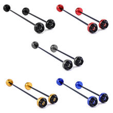 Motorcyle Front & Rear Axle CNC Wheel Fork Slider Protector For 2008-2011 Yamaha TMAX 500 530  Black/ Blue/Titanium/Gold/Red