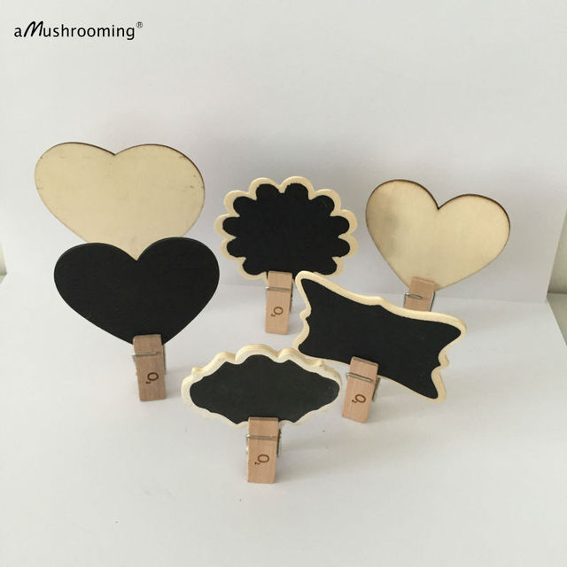 50x mini wood escort card candy buffet baby bridal shower decor wedding wooden table number heart