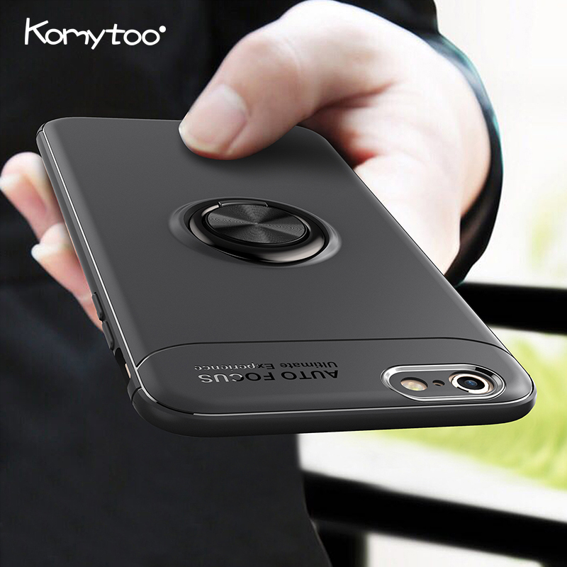 Finger Ring Holder Case For iPhone X 7 8 Case Silicone Ultra Thin Car Magnetic Holder Cover For iPhone 7 8 6 6s Plus Coque Cover