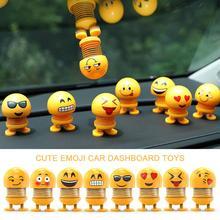 Spring Dancing Doll Ornaments with Light Cute Cartoon Emoji