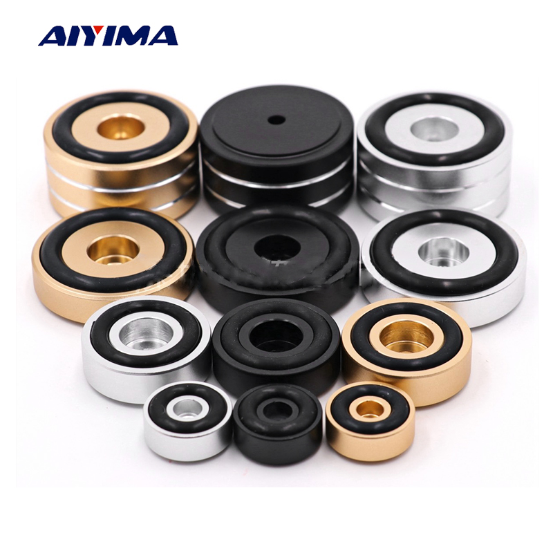 AIYIMA 4Pcs Mini Active Speaker Spikes Stand Foot Pads DIY For Audio Speakers Repair Parts Chassis Vibration Damping Feets