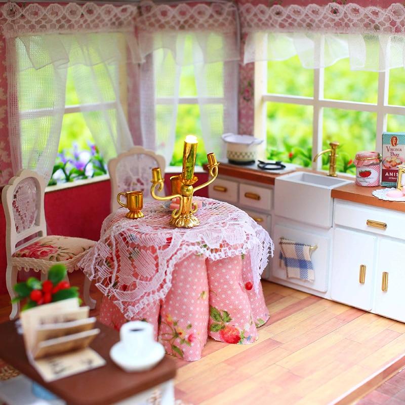 CUTEBEE Doll House Миниатюрная DIY Балалар Үйі - Қуыршақтар мен керек-жарақтар - фото 4