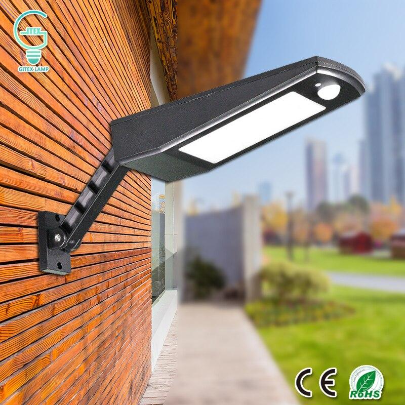 a prova dwaterproof agua luz solar 48 led solar lampada de parede sem fio pir sensor