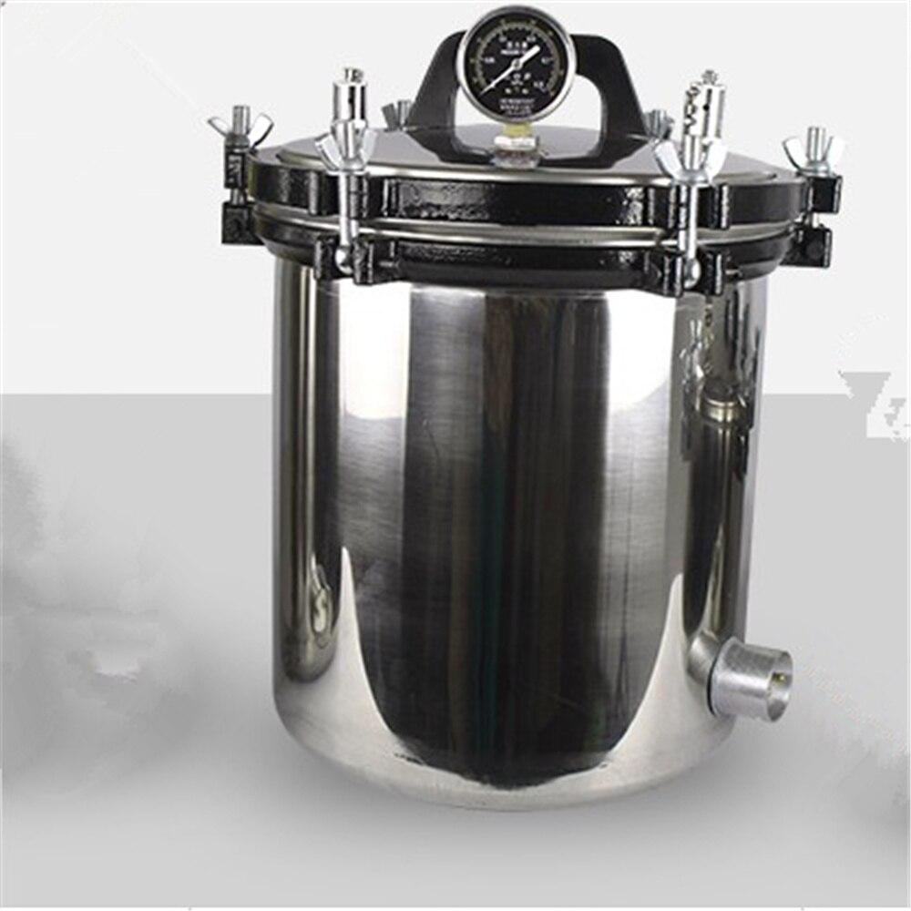 높은 품질 18L 고압 의료 증기 멸균 냄비 증기 오토 클레이브 치과 증기 밸브 실험실 용품