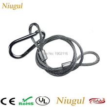 30pcs/lot 85cm Steel Wire Safety Rope Cable For LED Stage Lights Security, Stage Light Accessories LED Par LED Moving Head Beam