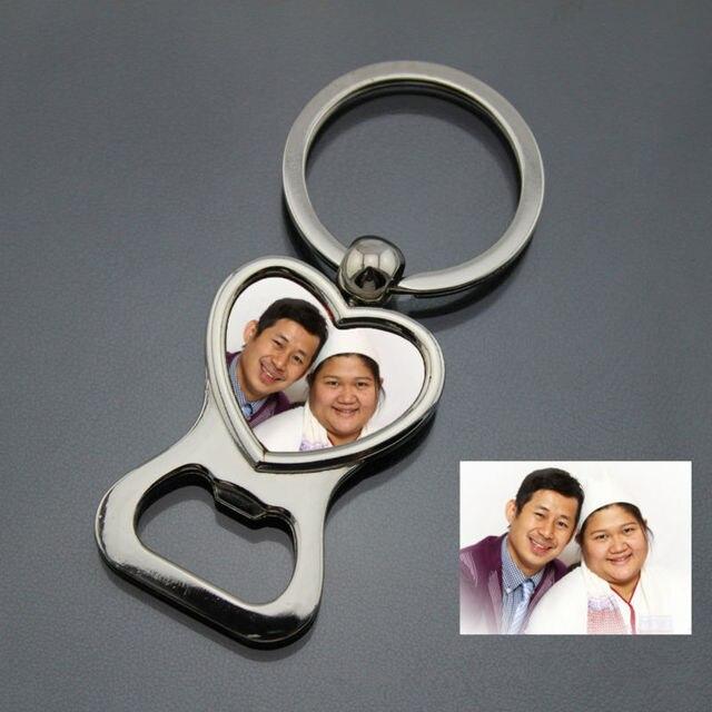 Love Heart Bottle Opener Keychain Keyring Personalized Wedding Favor ...