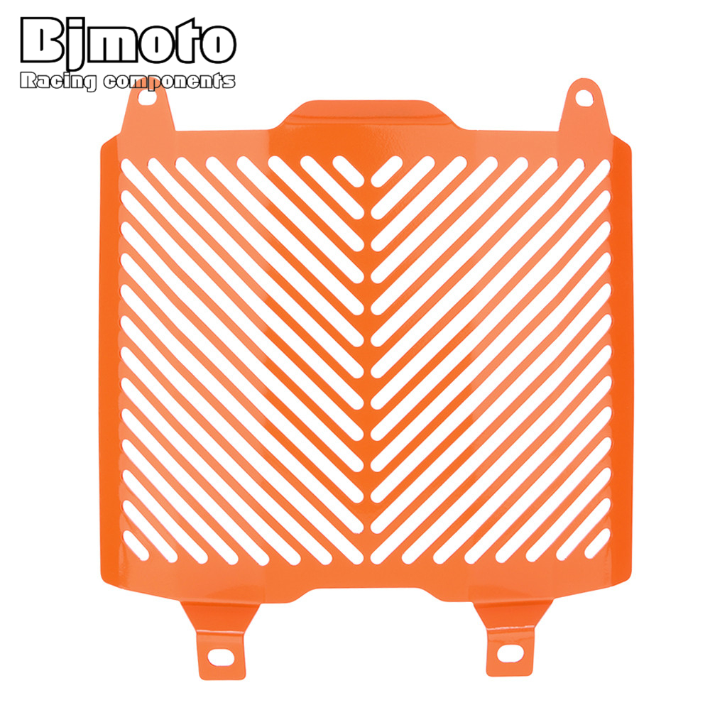 BJMOTO For KTM DUKE 690 690R 2012-2017 Motorcycle Aluminum Radiator Grille Guard Cover Protector Orange Black motorcycle front rider seat leather cover for ktm 125 200 390 duke