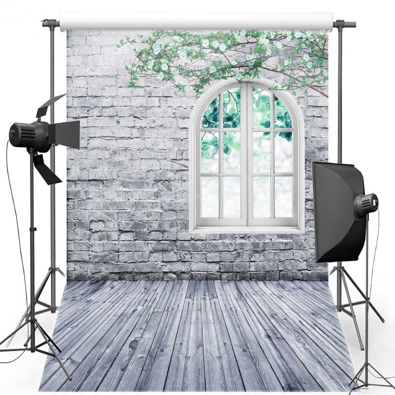 Brick Wall Vinyl cloth Photography Background Window New Fabric Flannel Backdrops Wood Floor backgrounds for photo studio S1825 7x5ft vinyl photography background white brick wall for studio photo props photographic backdrops cloth 2 1mx1 5m