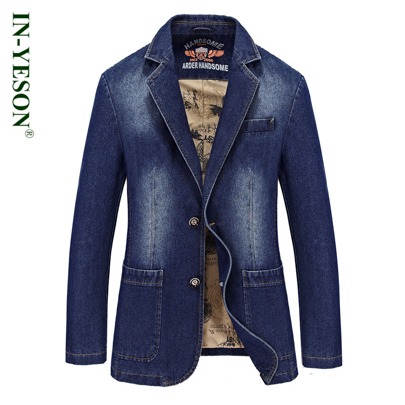 This is a Milano Moda three button denim suit. 3 piece included Jacket, Pants and Vest. % Cotton denim. Available in Denim Blue and Black color, size is available from 38 to 56 regular and long. 3.