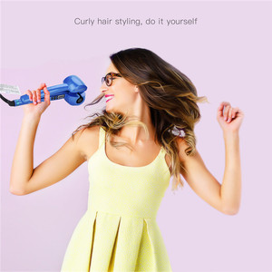 Image 2 - דיגיטלי אוטומטי קרלינג ברזל קרמיקה רולר להסס מכונת מהיר חימום רולר מתולתל שיער ליידי טמפרטורת בקרת שיער Curler