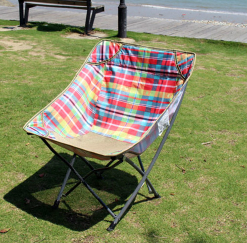 High quality outdoor portable folding chair fishing chair camping BBQ leisure chair camouflage outdoor comfortable folding fishing chair breathable moon chair leisure chair butterfly chair