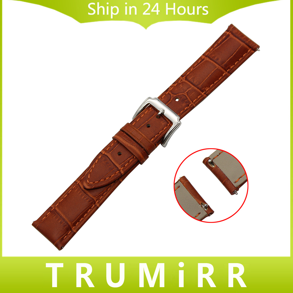 18mm 20mm Quick Release Watch Band for DW Daniel Wellington 1st Layer Genuine Leather Strap Stainless Steel Buckle Belt Bracelet