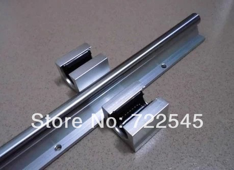 Wkooa 25 mm <font><b>Linear</b></font> <font><b>Rail</b></font> Set 1 x <font><b>SBR25</b></font> Length 1000 mm + 2 x SBR25UU Block For CNC Parts Set image