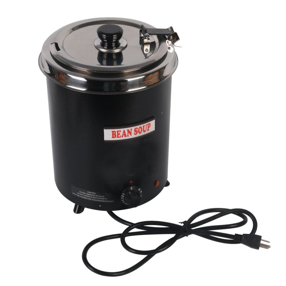 Кухонные инструменты пищевая машина Электрический суп чайник для подогрева котел stainlesssteel черный 5.7L железо распыление тела Бытовая Машина