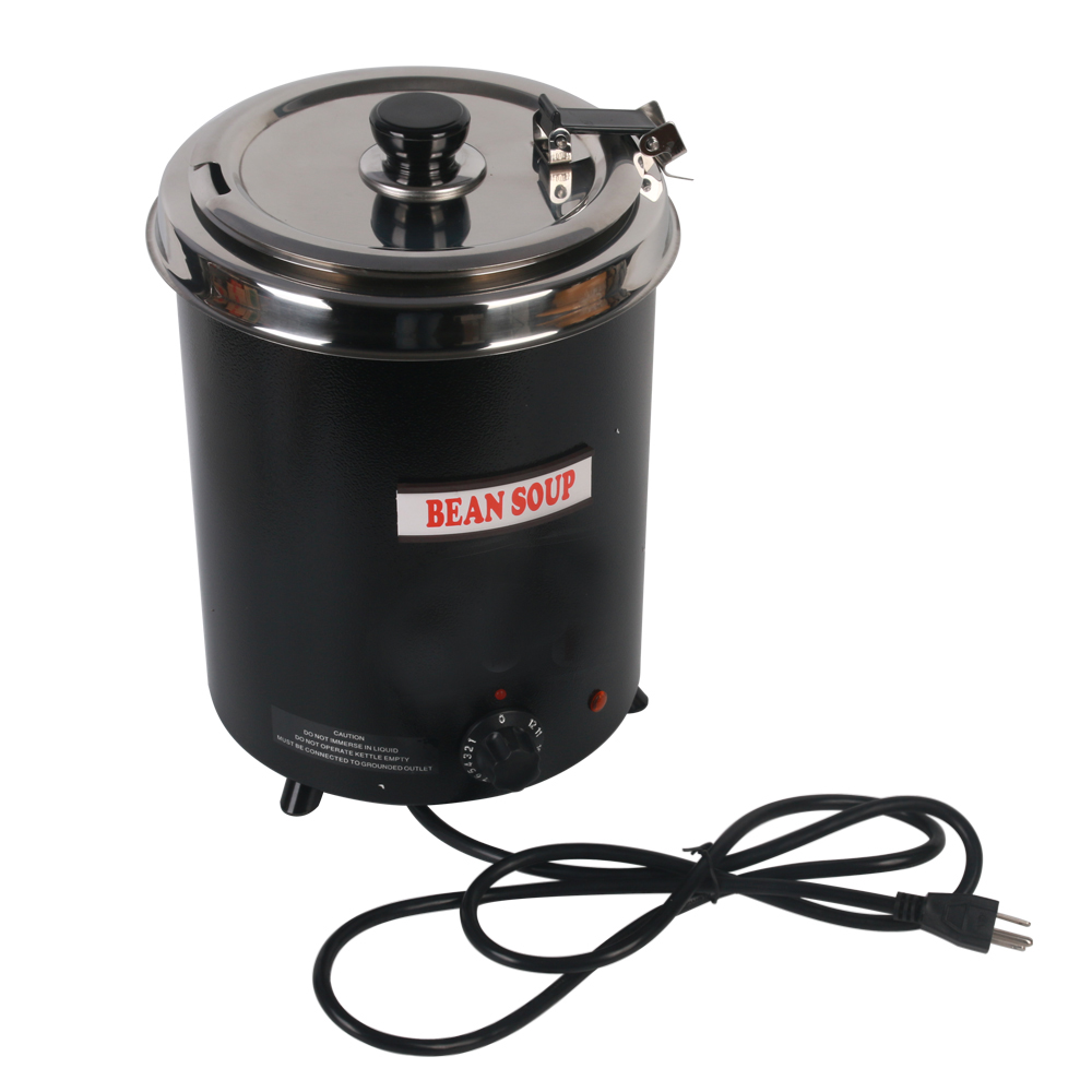 Kitchen Tools Food Machine Electric Soup WARMING Kettle boiler stainlesssteel black 5.7L Iron spraying body Household Machine