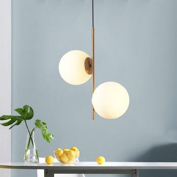 Nordic Loft Art Glass Bubble Cafe Led Chandelier Creative Simple Bedside Restaurant Bedroom Hanging Light Fixtures Free Shipping