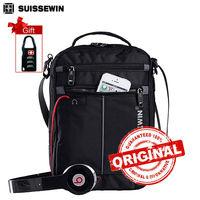 Swiss Messenger Shoulder Bag 11 Inch Black Bag For Ipad Handy Crossbody Bag For Students Casual