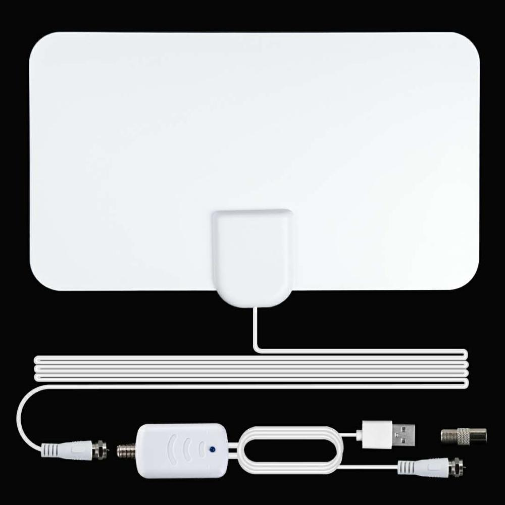 Indoor Antenna High Gain 4K 25DB HDTV DTV Digital TV Antenna 120 Miles Booster With Amplifier Signal Booster Active HD DTV Box