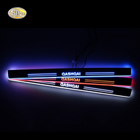 LED Door Sill For Nissan Qashqai 2015 2016 Led Moving Lights Door Scuff Plate Pathway Light