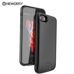 NEWDERY desconto cobertura completa caso banco do poder para o iphone X XS XR Max 7 + 8 + SE 5 5S 5500mAh battery case para iPhone 5 10 6S 7 8 Plus