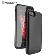 NEWDERY full cover discount power bank case for iPhone X XS XR Max 7+ 8+SE 5 5S 5500mAh battery case for iPhone 5 10 6S 7 8 Plus(China)