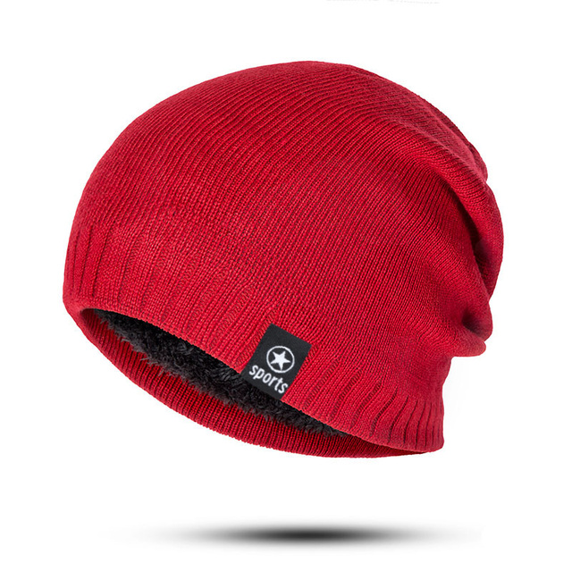 New Winter Solid Color Knitting Wool Hat 2