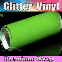 Green Glitter Sparkle Vinyl Car Wrap Sticker With Air Bubble Free Decal Film CARS LAPTOPS FURNITURE