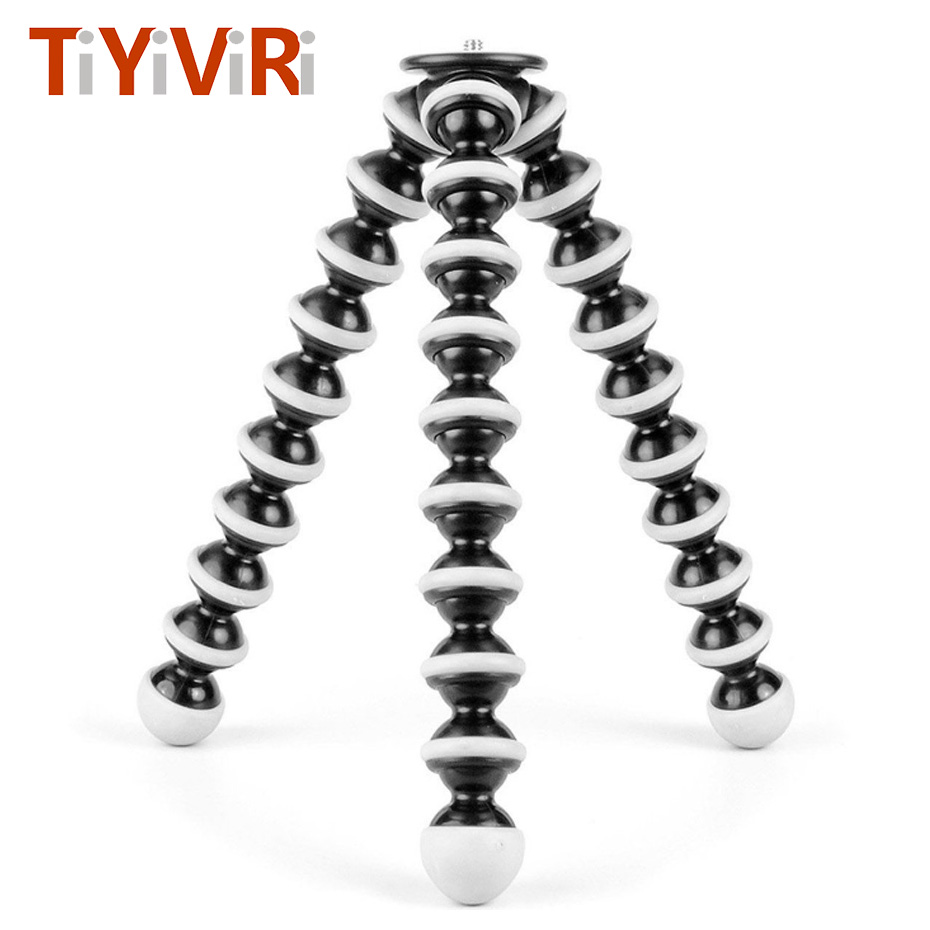 Gorillapod Flexible Large Octopus Tripod Stand for Gopro Hero 4/ 3+ 3 sj4000 for DSLR Mobile Phone Digital DV Canon Nikon Camera fosoto medium octopus flexible digital camera stand gorillapod monopod mini tripod with holder for gopro hero 2 4 3 3 and phone