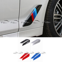 for BMW 5 Series G30 Car Styling PC Material Carbon Look / M Color / Silver / Red / Blue Air Flow Fender Stickers