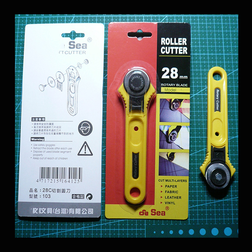 28mm/45mm Utility Knife Roller Cutter Rotary Cutter Blade Cutting Mat Kit Leathercraft Tool