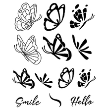 AZSG Different Butterflies Silicone Clear Stamps/Seal For DIY Scrapbooking Decorative Card Making Craft Fun Decoration Supplies
