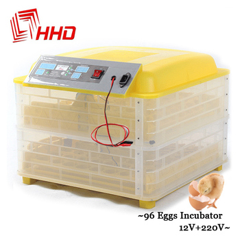 Free Ship Mini Capacity 96 Auto Turner Full Automatic Egg Incubator for Chicken with Digital Commercial Thermostat Control 160W