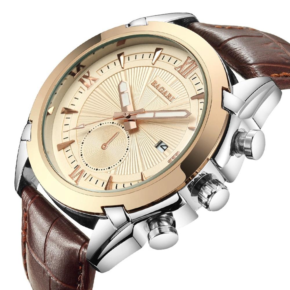 Hommes de Mode Sport Montres Simple Quartz Analogique Horloge Classique Militaire Étanche Bracelet En Cuir Montre Relogio Masculino