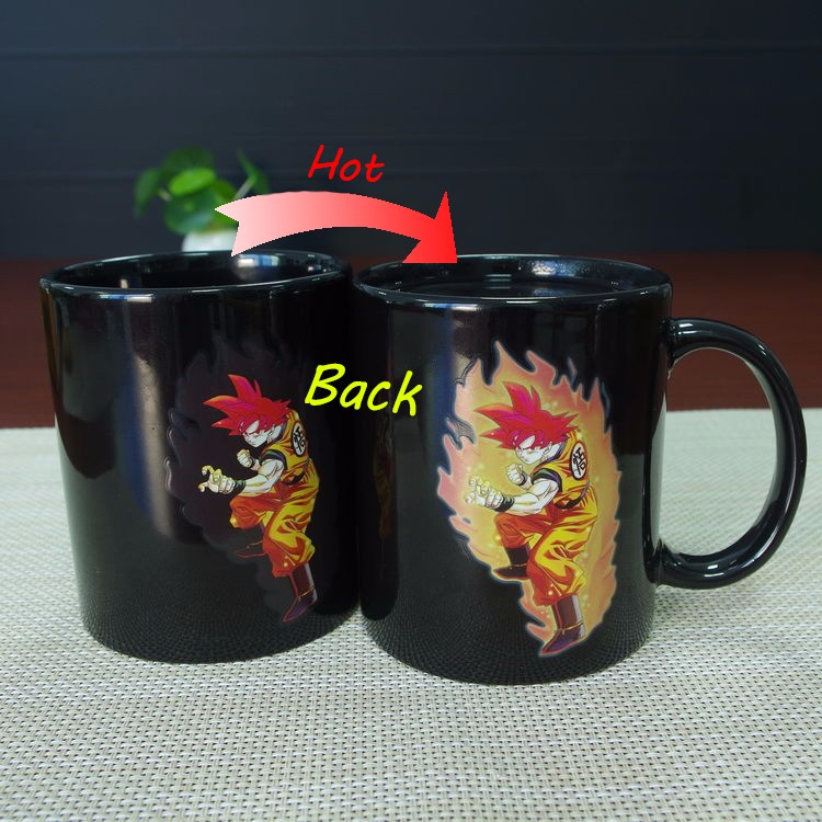 Goku Mug Changing Color Heat Reactive