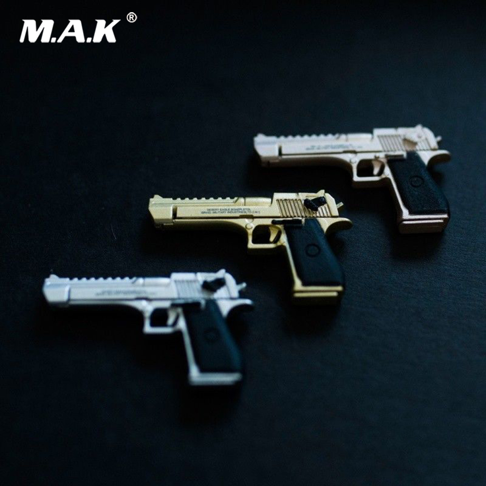 METAL KNIGHT 1/6 Alloy Pistol Model <font><b>Desert</b></font> <font><b>Eagle</b></font> Handgun Removable Weapon Accessories Toy for 12 inches Action Figure Body image