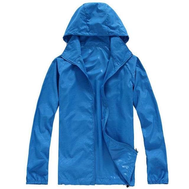 a61ffbc41 Outdoors Hiking Jacket Cycling Windbreaker Waterproof and Windproof Cycling  Jackets Camping Clothes Thin Rain Jacket Women Men