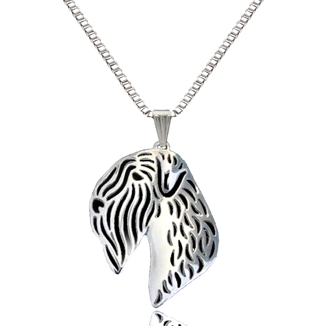 Soft coated wheaten terrier dog pendant silver plated necklaces soft coated wheaten terrier dog pendant silver plated necklaces animal handmade charm gift for pet lovers mozeypictures Gallery
