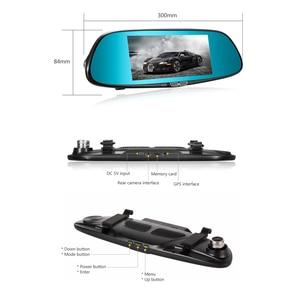Image 2 - AOSHIKE 7 Cal lusterko wsteczne rejestrator jazdy 1080 P wysokiej rozdzielczości noktowizor podwójne nagrywanie do tyłu jazdy samochodem DVR