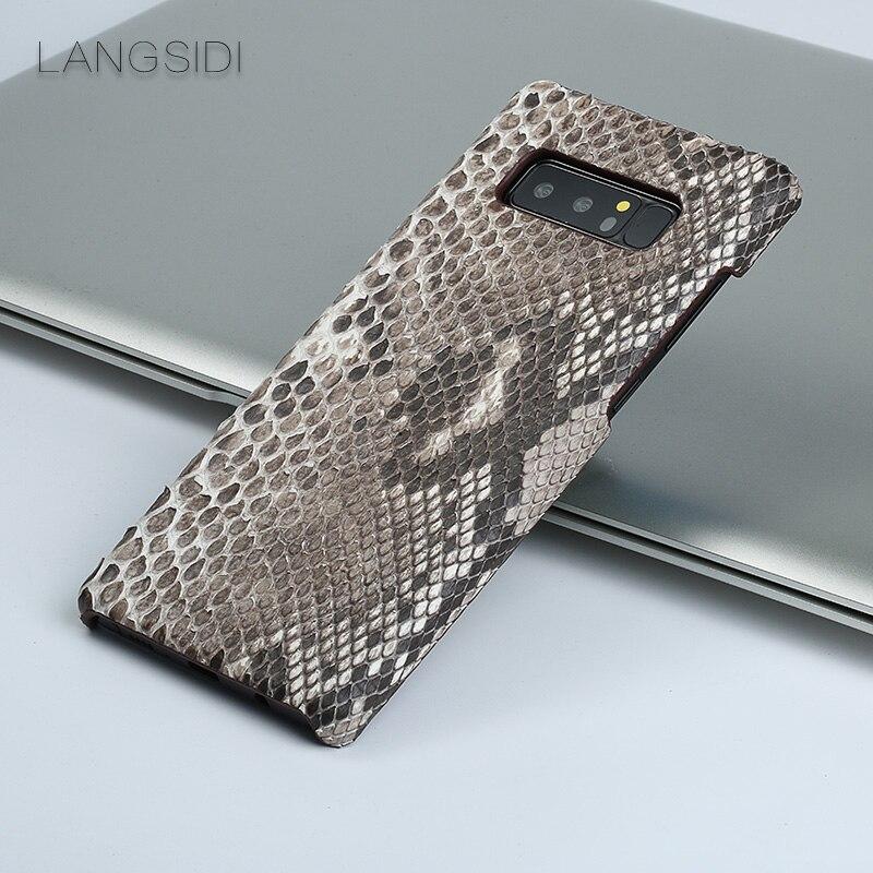 Luxe pour Samsung Galaxy J5 luxe fait à la main réel python coque peau couverture en cuir véritable coque de téléphone - 4