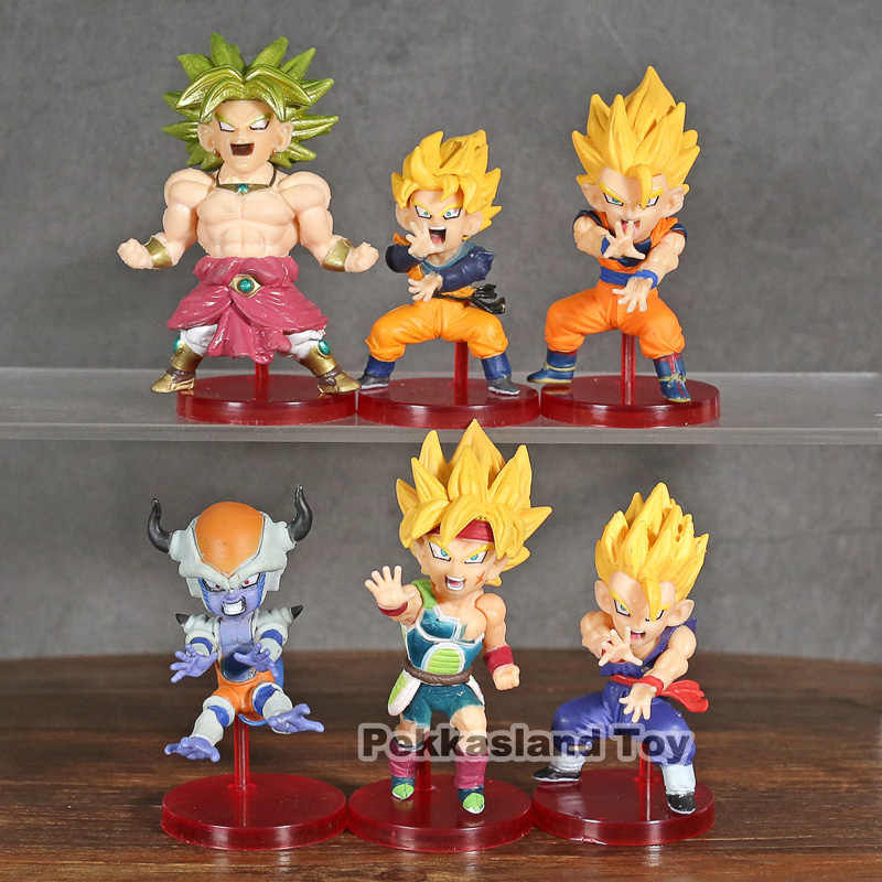 Dragon Ball Z Figura de Ação do WCF Son Goku Brolly Bardock Saiyan Son Gohan Goku Frieza Batalha Vol.4 Collectible Toy Modelo 6 pçs/set