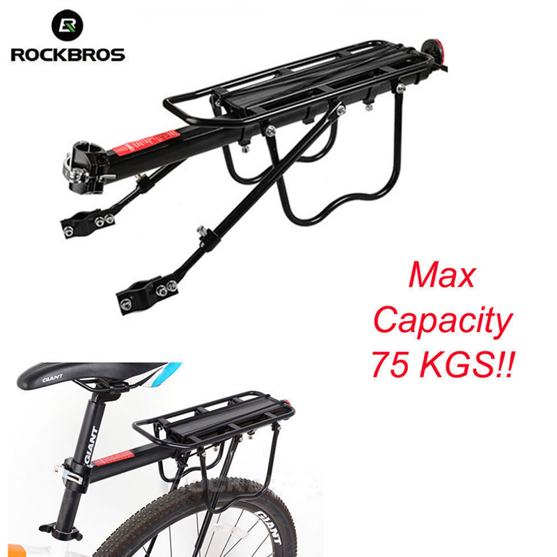 цена на ROCKBROS Cycling Bicycle Bike Rear Rack Quick Release Aluminum Alloy MTB Bike Bicycle Carrier Holder Traveling Luggage Bike Rack