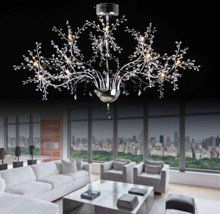 AC100-120V/220-240V High End Luxury Lustre LED pendant lights Modern Crystal LED lustres hanglamp lamparas de techo home lamps