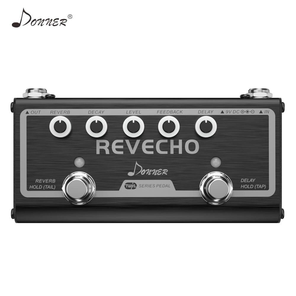 Donner 2 en 1 retard Reverb pédale d'effets de guitare Revecho Tap Tempo Control electique accessoires de pédale de guitare True dérivation nouveau
