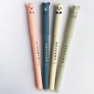 4 pcs/lot Cute Cartoon bear Panda Pink Mouse Erasable Blue Ink Gel Pen School Office Supply Gift Stationery Papelaria Escolar(China)
