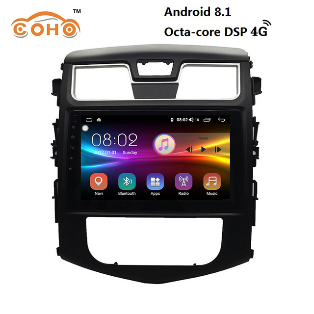 Áudio do carro Android 8.1 8-core para DongFeng S50/S500/X3/X5/XU com rádio BT GPS navigation suporte Carplay WI-FI e 4G internet