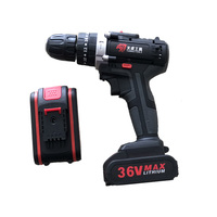 36V Electric Impact Cordless Drill Lithium Battery Wireless Rechargeable Hand Drill Home DIY Electric Power Tools