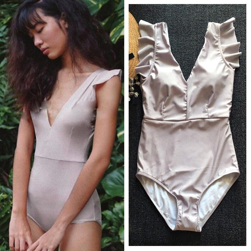 xbalamque spa and resort 4 п ов юкатан elegant retro deep V thin cover belly texture one-piece swimsuit female Spa Resort